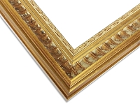 21 - Custom Aged Gold Picture Frame