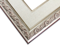 100S - Silver Embossed Frame With Linen Liner