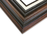 T800 - Coffee Brown Beveled Frame
