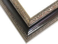 335S - Custom Ornate Black Wooden Frame (Out of Stock)