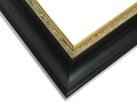 23 - Custom Matte Black And Gold Picture Frame