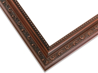 18W - Dark Cherry Mahogany Ornate Picture Frame