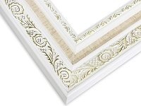 518WH - Gold Embossed White Frame