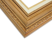 Tara - Antique Gold Embossing Frame