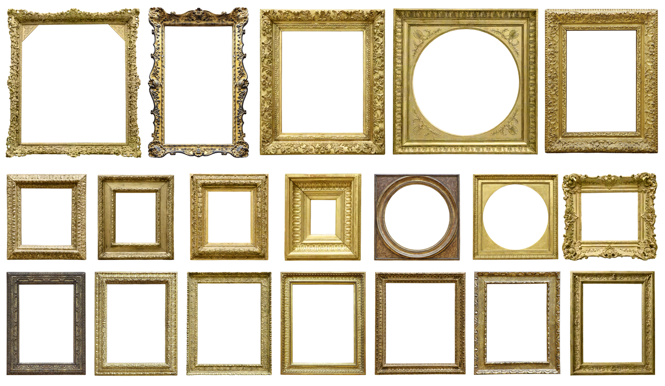 Choosing and ornate frame