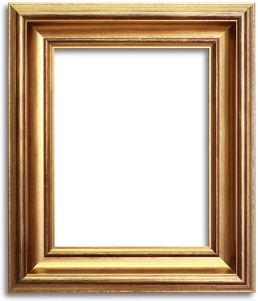 5038 - Custom Size Golden Brushed Frame