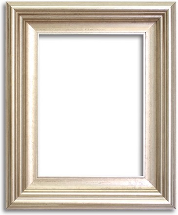 7132S - Custom Silver Beveled Edges Frame