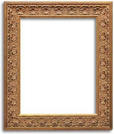 334A - Custom Antiqued Gold And Bronze Frame