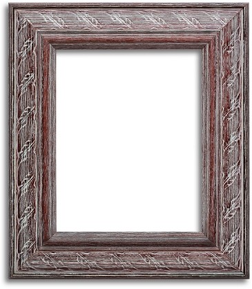 ER30 - Custom Weathered White Brown Rustic Frame