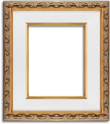 100G - Ornate Wooden Gold Frame