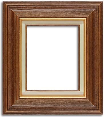 Chestnut Wood Frame Rustic Oregon Ready Made Frame