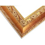 24B - Custom Vintage Cut Gold Picture Frame